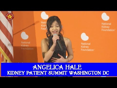 Angelica Hale Sings Greatest Love of All at Kidney Patient Summit in Washington DC March 2018