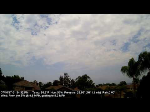 Chino Hills Time-Lapse 7/16/17