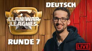 🏆Clash of Clans Live - Dark Looters - Clankriegs Liga Runde 7 - Rathaus 12 angriff - coc deutsch