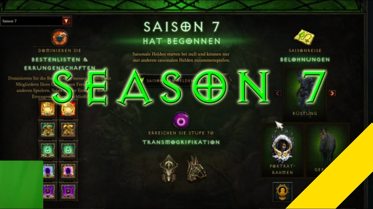 PTR] Diablo 3 Season 7 Errungenschaften, Sets, Gefährten ein ...