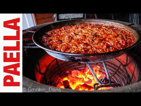 Chicken & Chorizo Paella on the Kamado Joe