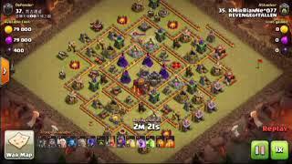 Clash of clans - Revenge of Fallen Clan War Th9