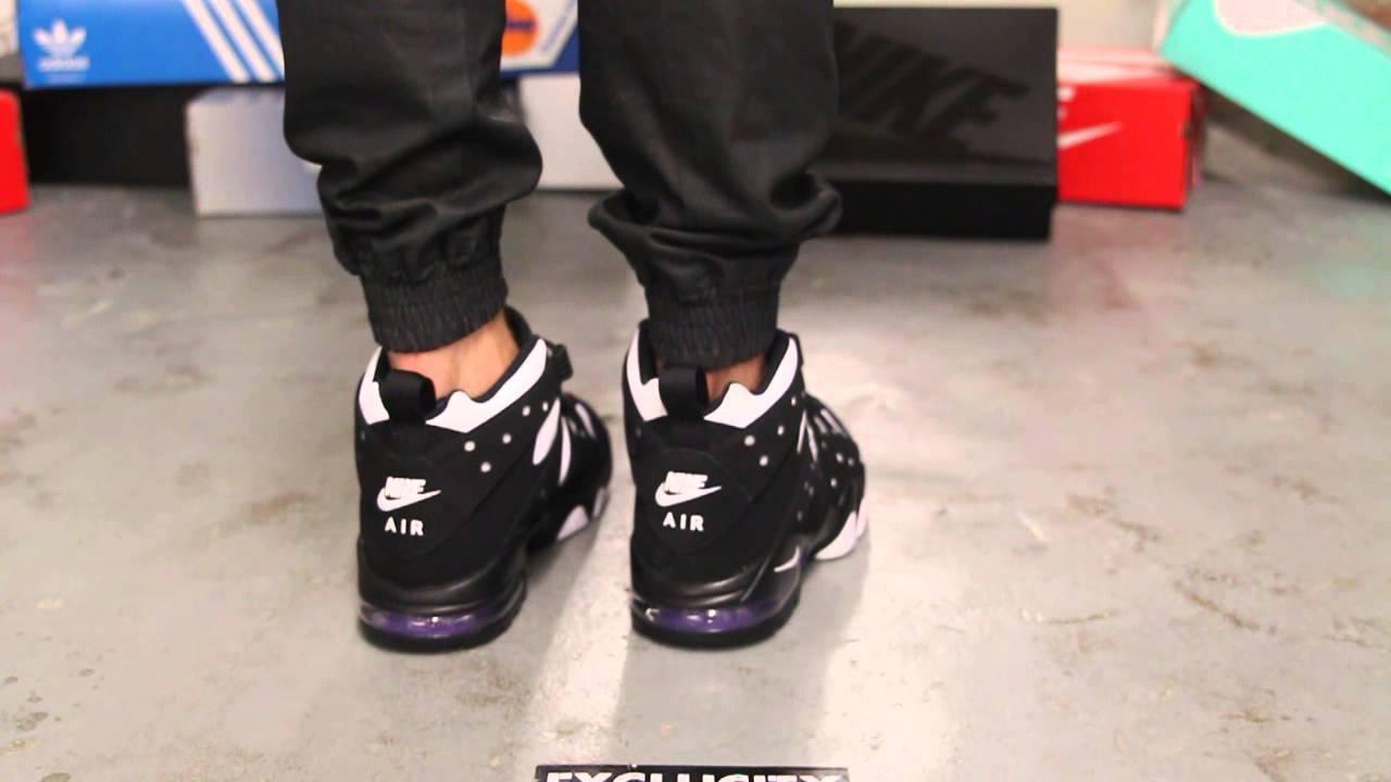 designer fashion 0efed a3b1e ... cheapest nike air max 2 cb 94 black varsity purple on feet video at exclucity  youtube