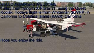 X-Plane 11 Quest Kodiak to Catalina Island