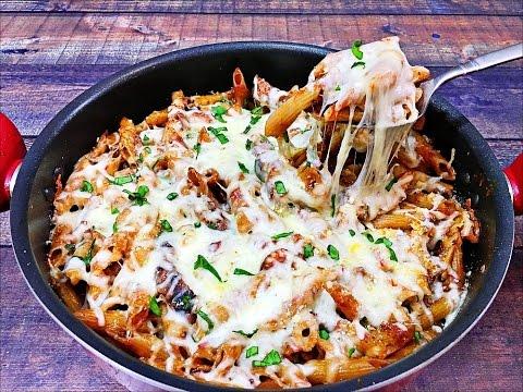 Chicken Parmesan Pasta Skillet - Italian Pasta Recipe
