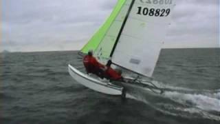 Hobie Cat 16 SPI - Wild Nose dive - Theis Coling and Magnus Nørbo, Denmark