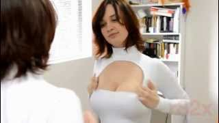 Repeat youtube video Girl's breast expand while trying out outfit