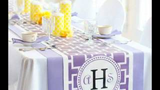 Personalized Wedding Reception Table Runners