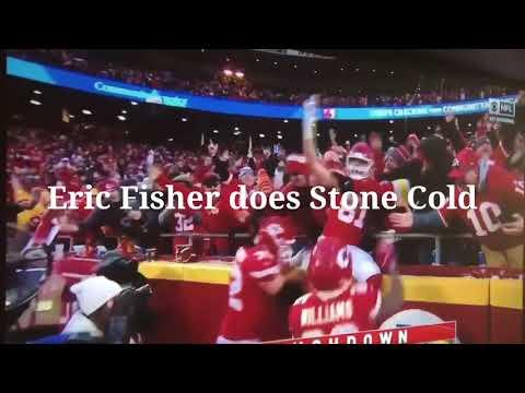 Kansas City Chiefs Eric Fisher Stone Cold Beer Chug
