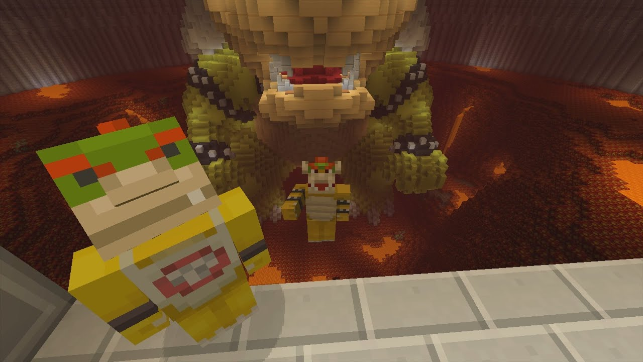 Minecraft Wii U Super Mario Series Bowser Jr Turns Good