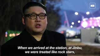 Trump and Kim Jong Un impersonators show up in Pyeongchang