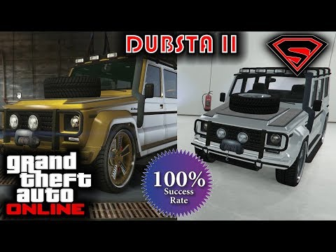 HOW TO GET THE DUBSTA 2 IN GTA 5 ONLINE - HOW TO GET THE CHROME & GOLD DUBSTA SOLO AND EASY 100%