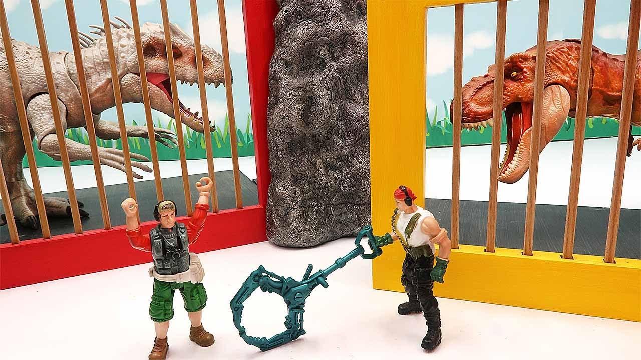 Dinosaur Prison Is Broken! T-Rex Indominus VS Dino Hunter