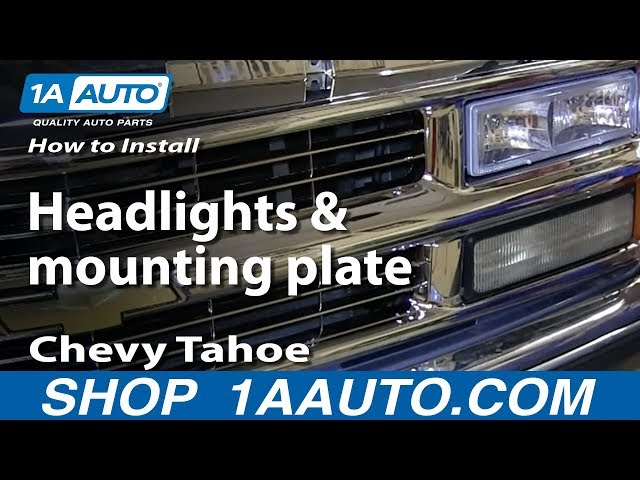 How To Replace Headlight 95 00 Chevy Tahoe 1a Auto