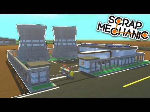 Nuclear Power Plant & Museum! - Mini City 2.0 [Ep.10] - Scrap Mechanic Gameplay & Creations