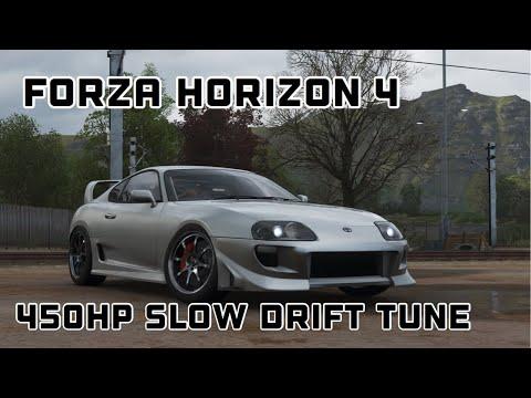 Forza Horizon 4 Toyota Supra 450hp Slow Drift Tune