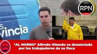 *AL HORNO* Alfredo Olmedo es denunciado por los  trabajadores de su finca