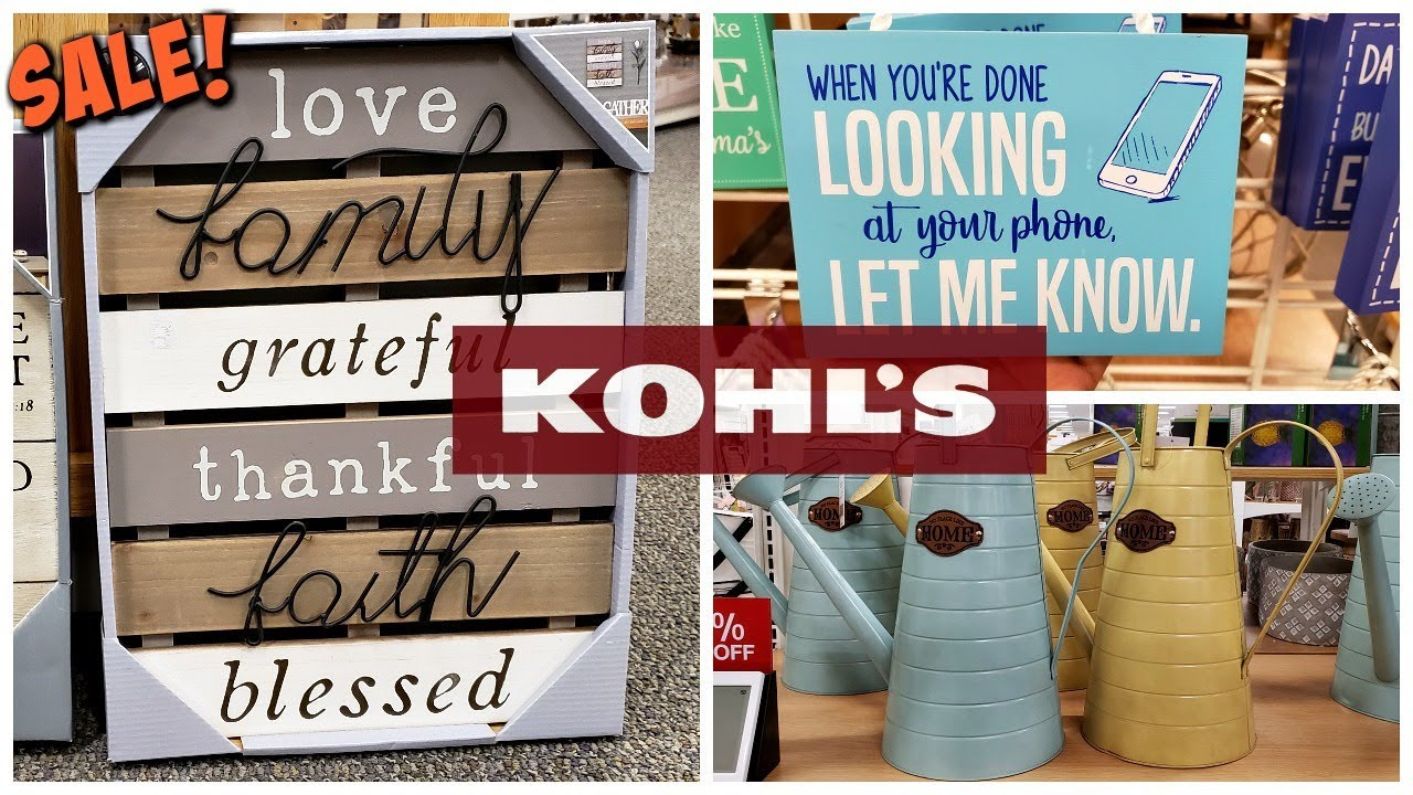 KOHL'S 40% - 50% OFF HOME DECOR * SHOP WITH ME * MAY 2019 ...