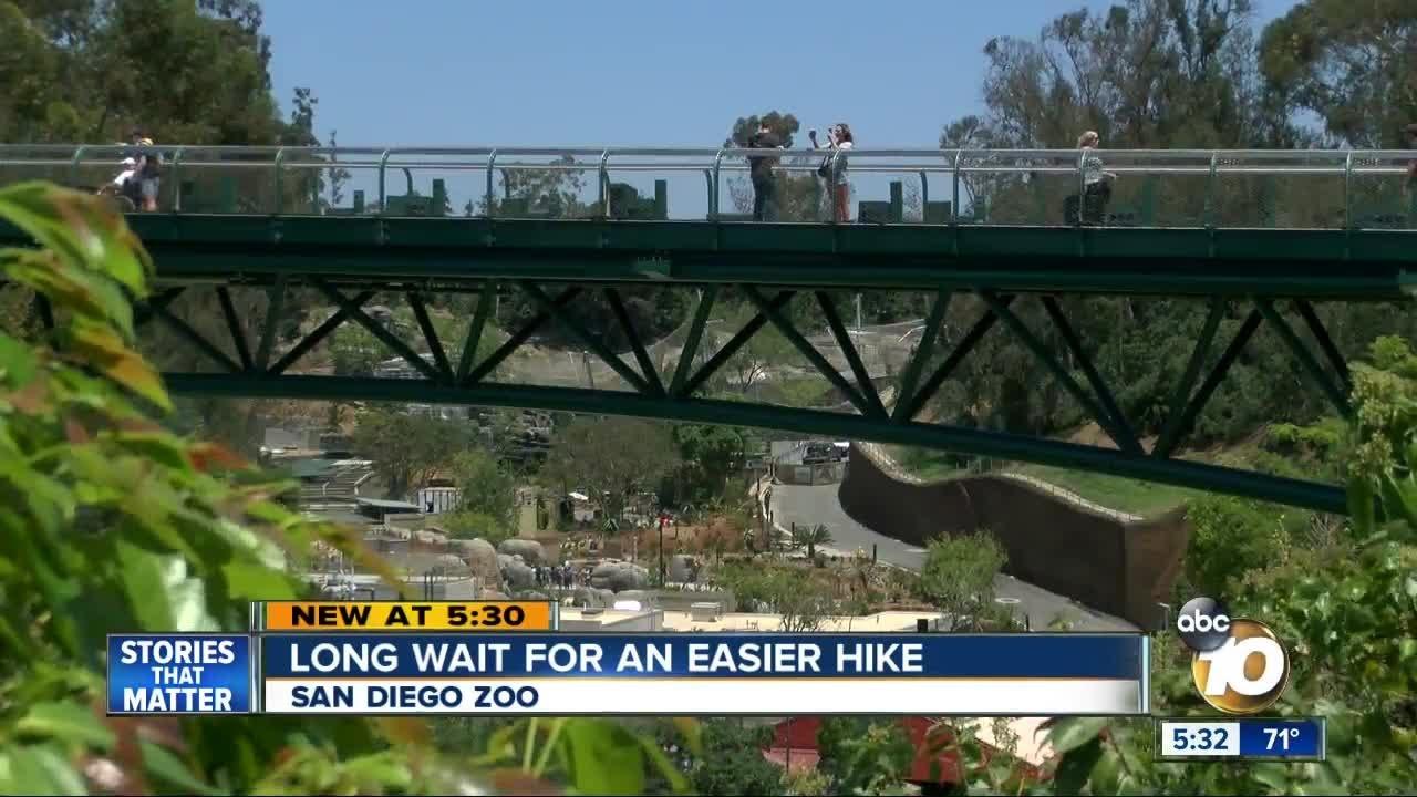 san diego zoo opens new canopy bridge youtube