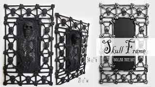 Skull Frame / Halloween Decor / Dollar Tree DIY /Gate Frame DIY