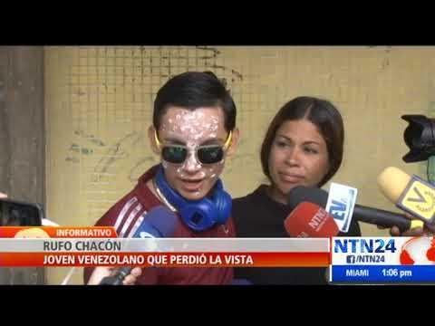 Rufo Chacón, venezolano que quedó ciego tras ser herido con perdigón, pide ayuda para volver a ver