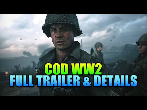 COD WW2 Trailer & Game Details!
