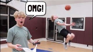 I DID A BACKFLIP LAYUP!?