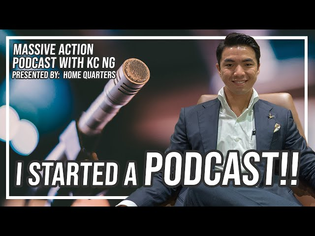 I started a PODCAST!! | Massive Action Podcast Ep 1