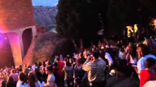 Andy Grammer runs through the crowd at Red Rocks