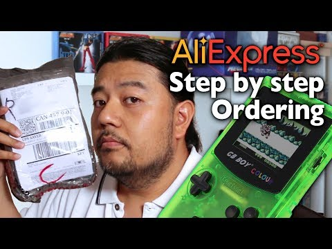 How to Order from AliBaba Express GB Boy Colour #orderalibaba #alibaba #aliexpress #gameboy