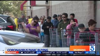 Coronavirus Panic Buying Brings Long Lines To Costco