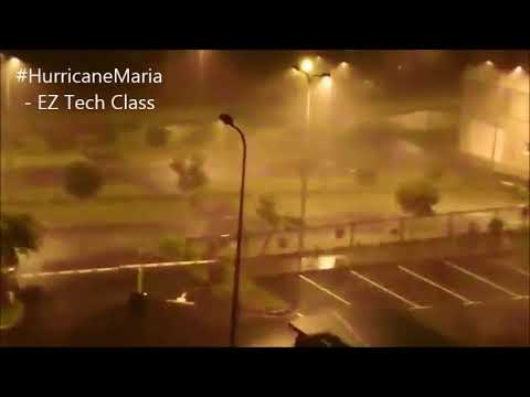 Gusty winds across Basseterre, Saint Kitts and Nevis -Hurricane MARIA