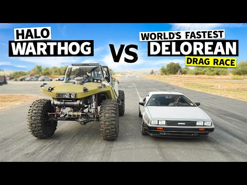 1,000hp HALO Warthog vs Marty McFly's Dream 500hp DeLorean // This vs That