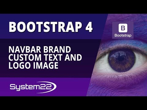 Bootstrap 4 Basics Navbar Brand Custom Text And Logo Image