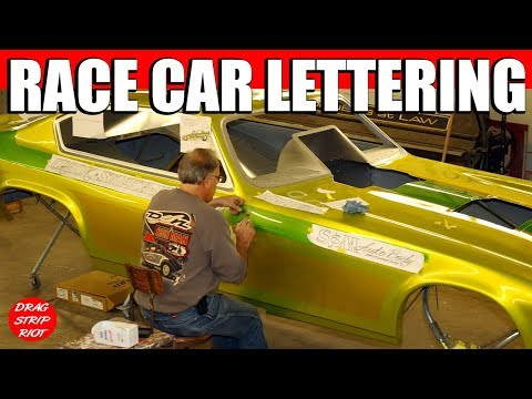Time Lapse Hand Lettering Pinstriping Gold Leaf Airbrush Vega Funny Car Nostalgia Drag Racing Videos