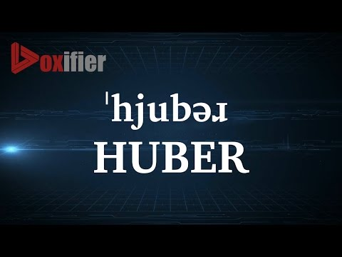 How to Pronunce Huber in English - Voxifier.com