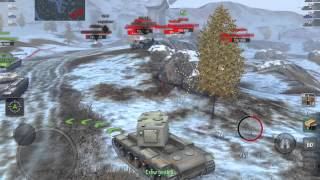 world of tanks blitz kv 2 does well in tier 8 game