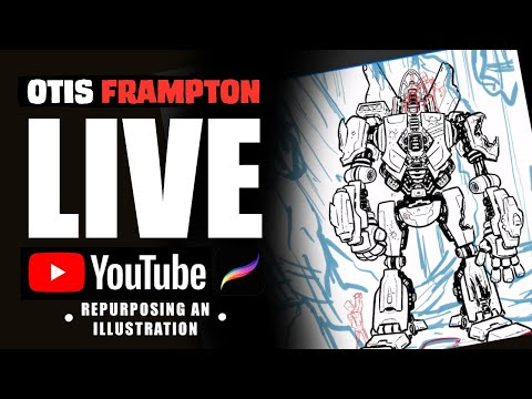 Otis Frampton LIVE - July 15th, 2019 - Repurposing An Illustration