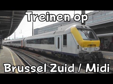 Treinen op station Brussel Zuid // Trains à Bruxelles-Midi
