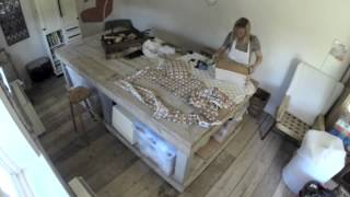 Sewing Box Upholstery Time Lapse