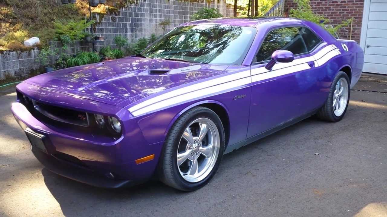 My 2013 Dodge Challenger R/T in Plum Crazy - YouTube