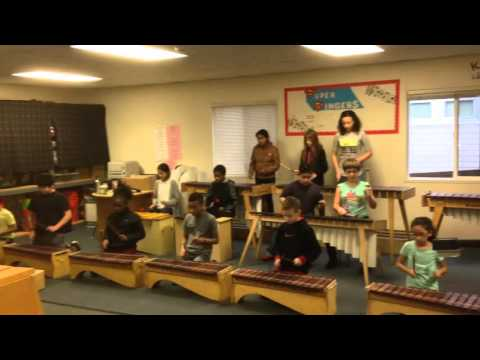 Menlo Park Marimba Band prepares for the 2016 Camp Fire Talent Show