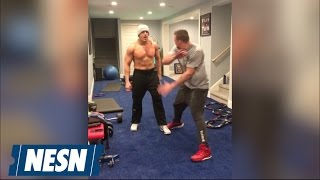 Rob Gronkowski Hypes Up Mojo Rawley Ahead Of Wrestlemania