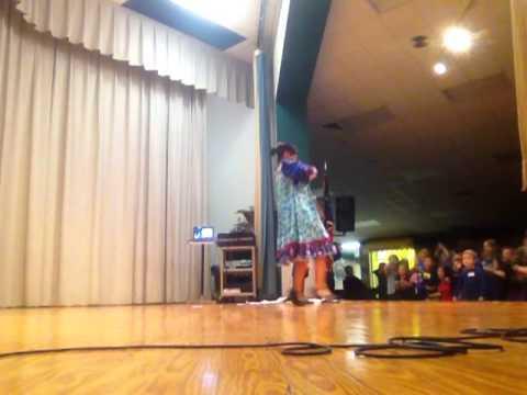 Waco, TX (Texas) Russian dancers, balalaika, garmoshka. School show