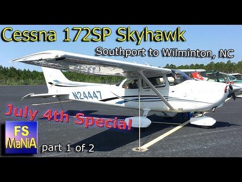 Cessna C172SP Southport to Wilmington, NC ATC