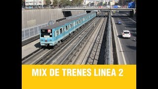 Metro De Santiago | Segundo Mix de Trenes Linea 2