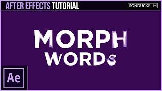 After Effects Tutorial: MORPH MOTS En d'Autres Termes - Motion Graphics Transition