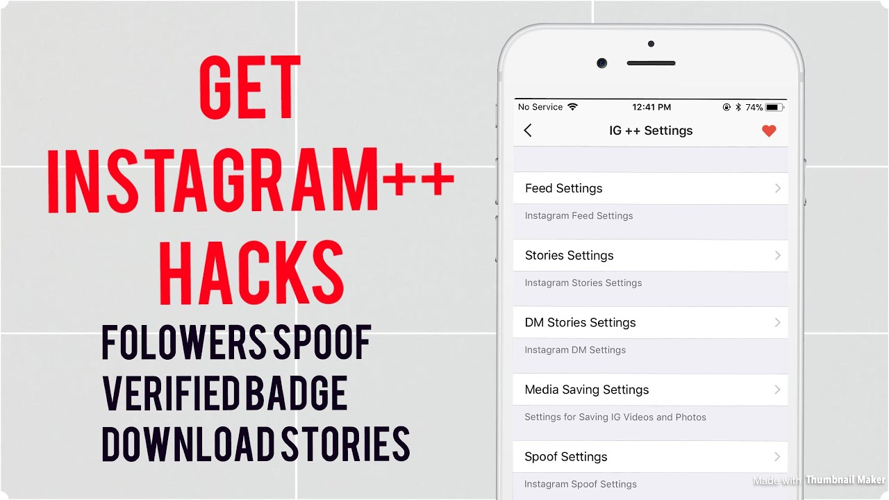 Get Instagram Hacks for IOS 10 3 - 11 beta / Followers Spoof / Verified  Profile / Download Stories