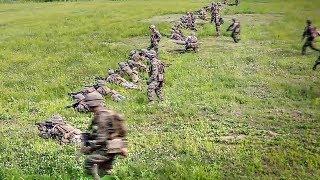 Platoon Attack On Mock Enemy Position – U.S. Marines Conduct Training In S. Korea