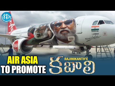 AirAsia To Promote Superstar Rajinikanth's Kabali Movie